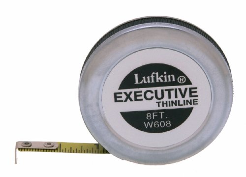 (Lufkin W608 1/4-Inch by 8-Foot Executive Thinline Pocket Tape)