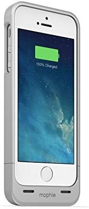 Mophie Juice Pack Air - Carcasa con batería integrada de 1500 mAh para iPhone 5, color plateado: Amazon.es: Electrónica