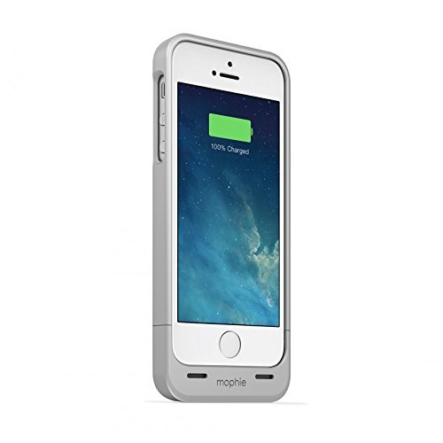 mophie juice pack Helium for iPhone 5/5s/5se (1,500mAh) - Silver (Best Case For Iphone 5se)