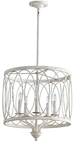 Cyan Design Pendant Chandelier Sausalito 5-Light Persian White Wrought Ir