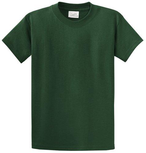 Joe's USA(tm Heavyweight 6.1-Ounce, 100% Cotton T-Shirts,XL-DarkGreen