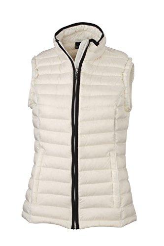 James & Nicholson Women's Daunenweste Ladies Quilted Down Vest Jacket Red - Off-white/Black