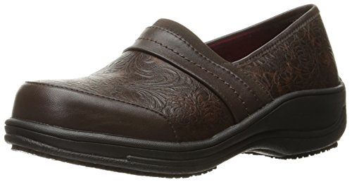 Cherokee Brown Leather - Cherokee Women's Naomi Health Care and Food Service Shoe, Brown, 6 M US