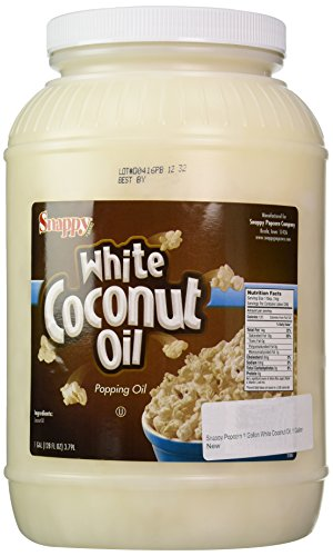 Snappy Popcorn 1 Gallon White Coconut Oil, 1 Gallon