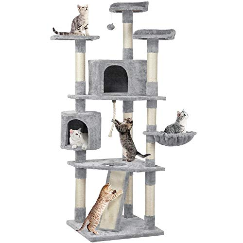 Yaheetech 79 inches Multi-Level Cat Tree Condo with Scratching Post Pet Stand Play House Furniture Kitten Kitty Activity Tower