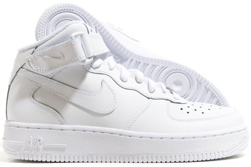 Nike Air Force 1 Mid (GS) Big Kids Sneakers White/White 314195-113 (7 M US)