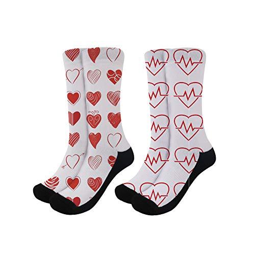 2 Coloranimal Mujer Pcs Fashion 1 Heartbeat wnYtTta1xq