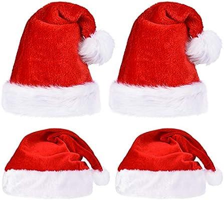 4 Piezas de Sombrero de Papá Noel de Navidad 8e094ee90b7