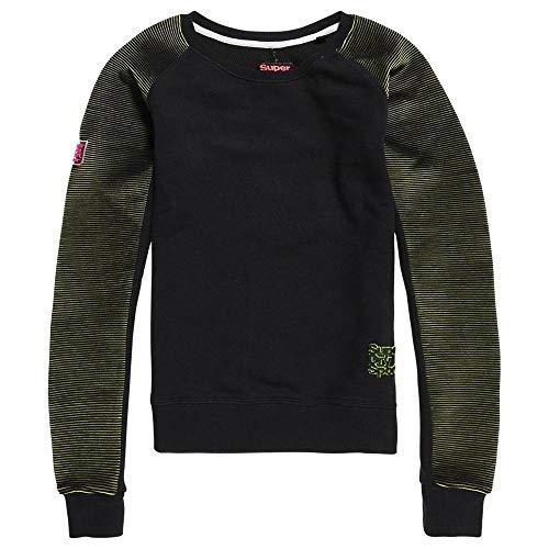 Sweatshirts Black Superdry S And Hoodies Reflex Female Crew lime qddO6wzxg