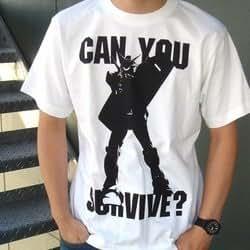 Cospa Gundam Can You Survive? Men White T-Shirt (XL)