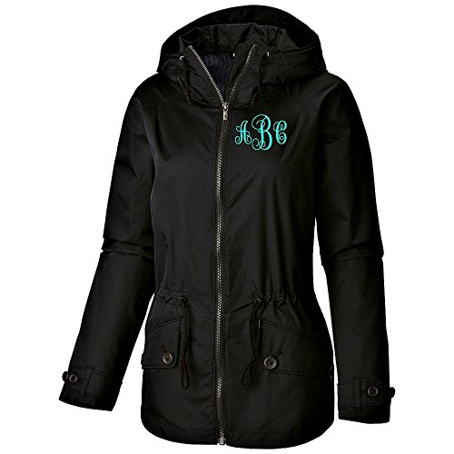 monogram rain coats for women - 9