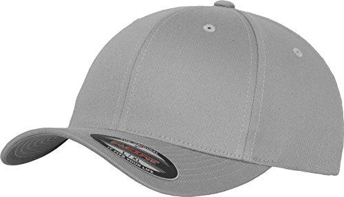 Adult Flexfit Wooly Combed Cap, Unisex, Mütze Flexfit Wooly Combed, Silver, S/M