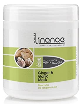 Linange Ginger and Garlic Mask 1000ml Softening, Strengthening, Moisturizing, Nourishing, Hair Care Product Hair Mask w Proteins for Men and Women for Thin, Dry, Damaged, Curly Hair