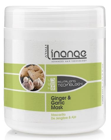 Linange Ginger and Garlic Mask 1000ml; Softening, Strengthening, Moisturizing, Nourishing, Hair Care Product; Hair Mask w/ Proteins for Men and Women - for Thin, Dry, Damaged, Curly Hair