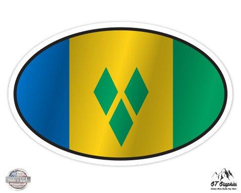 Grenadines Mug (Saint VIncent and the Grenadines Flag Oval - 5