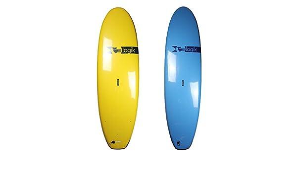 Logik Surf School amplia Softboard - principiante espuma Tabla de surf para adultos - varios colores/tamaños, azul: Amazon.es: Deportes y aire libre