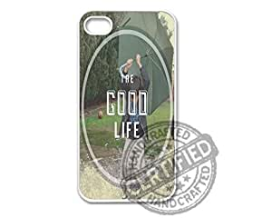 Apple iPhone 4/4s WHITE PLASTIC Case Cute Hipster Inspirational Quote Indie Good Life Design For Apple iPhone 4/4s Plastic Case WHITE
