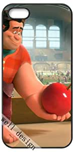Wreck-It Ralph Oscar Cartoon movie HD image case cover for iphone 5 5S black A Nice Present