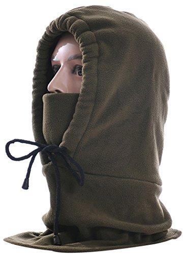 (Balaclava, Fascigirl Unisex Winter Adjustable Polar Fleece Ski Mask Hood Outdoor Sports Mask(Army Green))