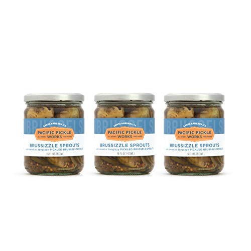 Brussizzle Sprouts (3-pack) - Semi-sweet pickled Brussels sprouts wedges 16oz