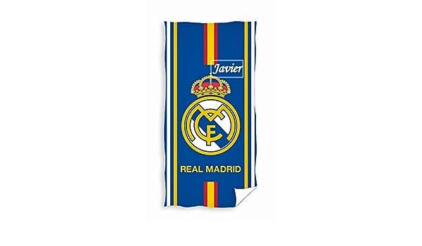 Real Madrid- Toalla De Baño y Playa Personalizada con nombre Bordado- 75 x 150 cm- Danielstore: Amazon.es: Bebé