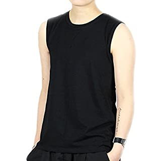 BaronHong Women Lesbian Tomboy Cotton Colorful Tank Top Vest Chest Binder Stronger Bandage(Black,M)