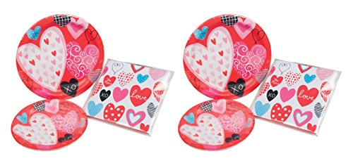 Set of 64 Valentines Party Plate Set! 7