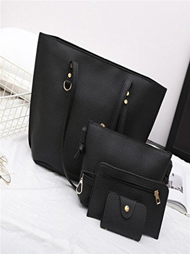 Amazon.com  Clearance Sale! 4Pcs Women s Litchi Pattern Leather Shoulder Bag +Crossbody Bag+Handbag+Wallet ❤ ZYEE  Shoes 64852316da77e