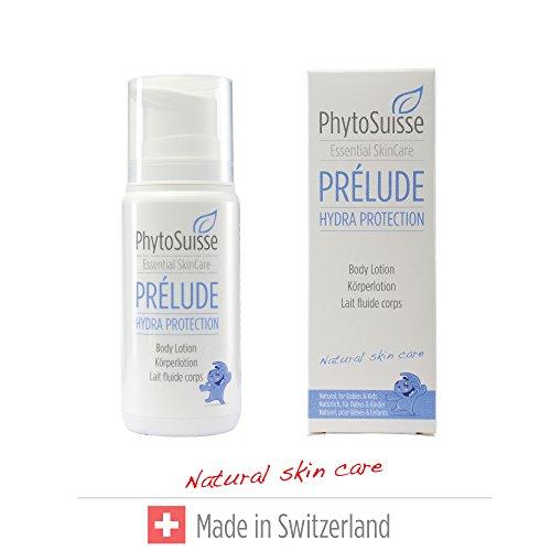 PhytoSuisse natürliche, extra schonende Körperlotion - Prélude Hydra Protection Body Lotion - für Allergiker und Baby geeignet, 100ml