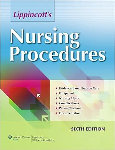 lippincotts nursing procedures for sixth edition