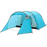 Qisan 3-4 Person Large Dome Tunnel Tent Double Layer...