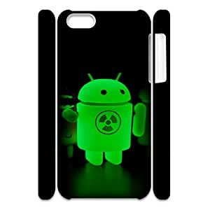 Cute Robot theme pattern design For Apple iPhone 5C(3D) Phone Case
