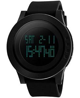 Reloj de Hombre Digital Electrónico a Prueba de Agua LED Reloj Casual Quartz Multifunción 12H /
