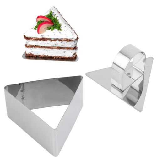 Alicenter(TM) Stainless Steel Triangle Shape DIY Dessert Cake Cheese Mould Slicer Cutter - Cheese Triangle
