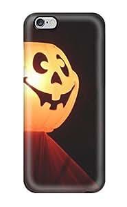 Tpu Fashionable Design Halloween Pumpkin Orange Red Black Light Yellow Halowen Haloowen Hallooween Hallowen Haloween Costum Holiday Halloween Rugged Case Cover For Iphone 6 Plus New