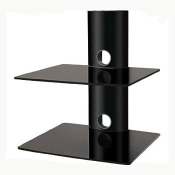 Amazon Com Eclipse Black 2 Shelf Component Dvd Cable Box