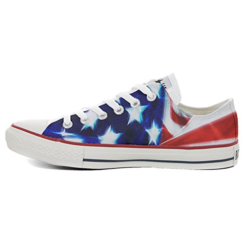 Converse All Star CUSTOMIZED , Sneaker Unisex, printed Italian style Slim flag Stars and Stripes