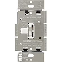 Lutron Toggler Dimmer Switch for Halogen and Incandescent Bulbs, Single-Pole or 3-Way, AY-603P-WH, White