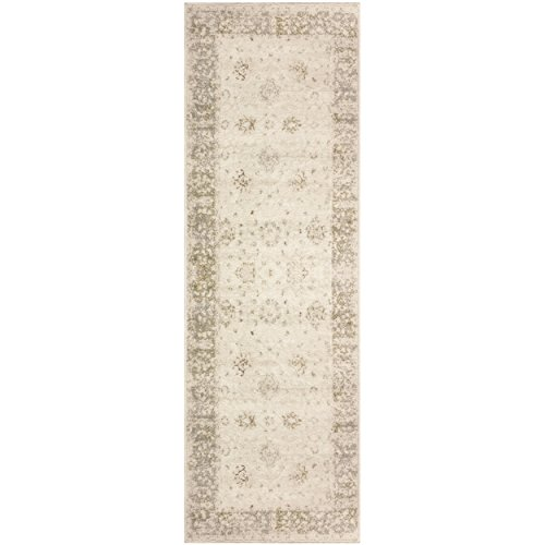 Superior Conventry Collection Area Rug, 8mm Pile Height with Jute Backing, Vintage Distressed Oriental Rug Design, Fashionable and Affordable Woven Rugs - 2'7