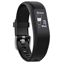 Garmin Vivosmart Sleek Touchscreen Band 3-Black, S/M, 0.8""