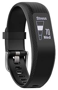 Garmin VivoSmart 3Fitness Tracker con sensor Cardio en la pulsera, Negro, talla S/M