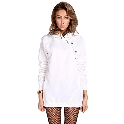 durable modeling eshion Women Long Sleeve Hooded Outwear Sweatshirt Tops