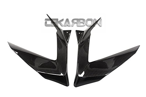 2013-2016 Kawasaki ZX6R Replacement for Side Fairing Panels Carbon Fiber 2x2 Twill Weave Tekarbon