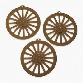 Wagon Wheel Wall Decorations (1 Dozen) - BULK (Wagon Wheel Plastic)