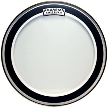 aquarian drumheads skii24 super kick ii double ply 24 inch bass drum head musical. Black Bedroom Furniture Sets. Home Design Ideas