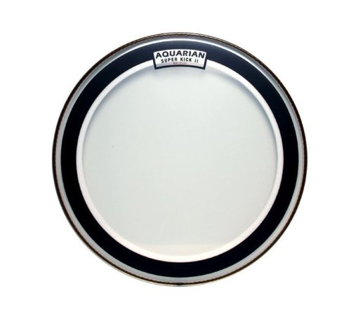 Aquarian Drumheads SKII24 Super-Kick II Double Ply 24-inch Bass Drum Head Bass Drum Heads 2 Ply