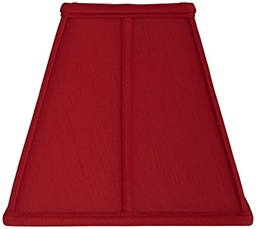 Red Square Lamp Shade 5.5/5.5x10/10x9.25