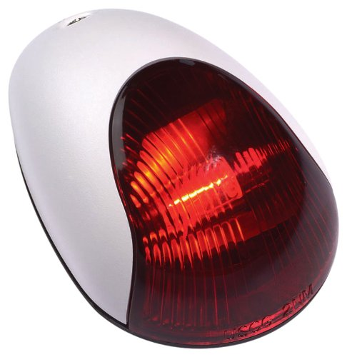 Light 2 Mile Vertical Mount - Attwood White Cover 2-Mile Vertical Mount Navigation Light (Port/Red Lens)