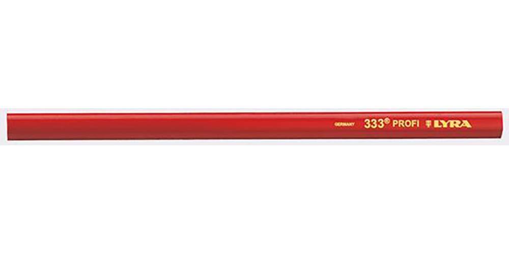 LYRA Kennzeichnung, 333 Zimmermannstift - Zimmermanns Bleistift, 1 Stü ck im Karton, 24 cm, rot, 20 x 20 x 30 cm, 4332103