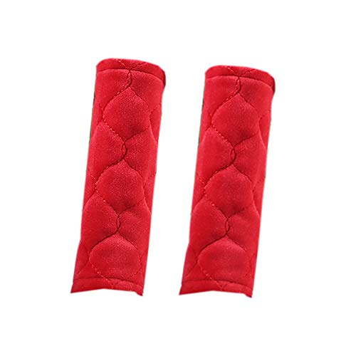 DUOYIZI Refrigerator Glass Door Dutch Cashmere Handle Cover Kitchen Appliance Decor Handles Antiskid Protector Gloves for Fridge Oven Keep Off Fingerprints,2 pieces (Refrigerator Handle Cover Red)
